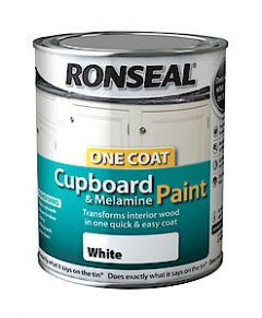 One Coat Cupboard Paint White Gloss 750Ml