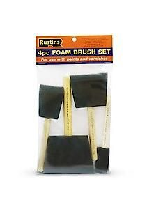 Foam Brushes-4 Brushes In A Pack. 1; 2; 3 And 4.