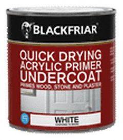 B/F Quick Drying Acrylic Primer Undercoat White - 250Ml