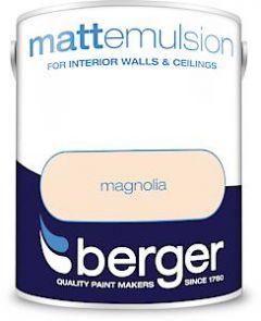 Berger Matt Emulsion - 5L - Magnolia
