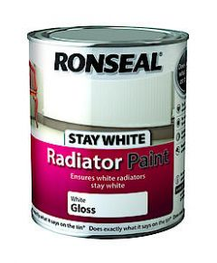 Ronseal Stay White Radiator Paint Gloss 750Ml