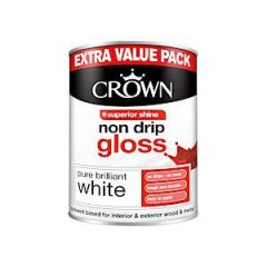 Crown Non Drip Gloss - 1.25 Litre - Pbw