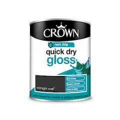 Crown Quick Dry Gloss Midnight Coal 750Ml