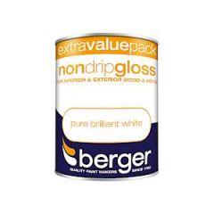 Berger Non Drip Gloss - 1.25L - Bril White