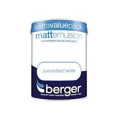 Berger Matt Emulsion - 3L - Bril White