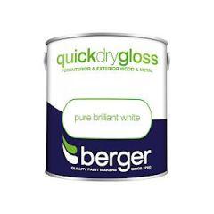 Berger Quick Dry Gloss Pure Brilliant White 2.5L