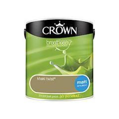 Crownr Matt Emulsion        Khaki Twst 2.5L