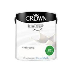Crownr Silk Emulsion        Chlk White 2.5L