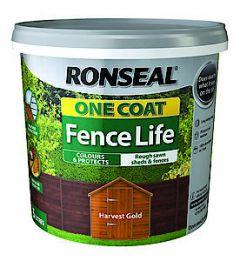 One Coat Fence Life Medium Oak 5L