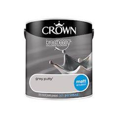 Matt Emulsion Grey Putty 2.5L