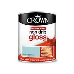 Crown Non Drip Gloss Duck Egg Blue 750Ml