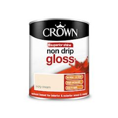 Crown Non Drip Gloss - 750Ml - Ivory Cream