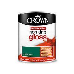 Crown Non Drip Gloss - 750Ml - Scottish Pine