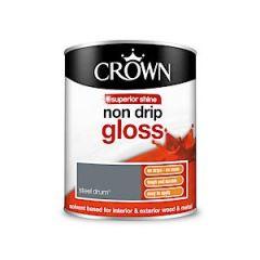 Crown Non Drip Gloss - 750Ml - Steel Drum