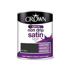 Crown Non Drip Satin Jet Black 750Ml