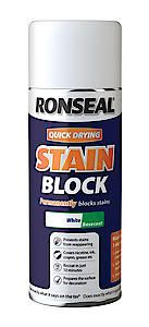 Quick Drying Stain Block Spray Paint White 400Ml