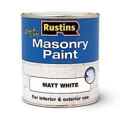 Rustins Masonry Paint Black 500Ml