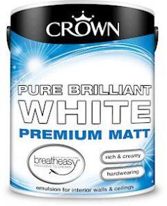 Crown Breatheasy Matt Emulsion - 5 Litre - Pbw