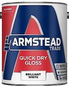 Am Trd Quick Dry Gloss B/White 2.5L