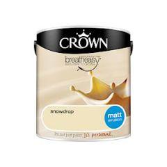 Crown Breatheasy Matt Emulsion 2.5L Snowdrop
