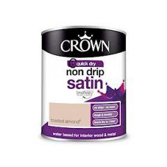 Crown Non Drip Satin Toasted Almond 750Ml