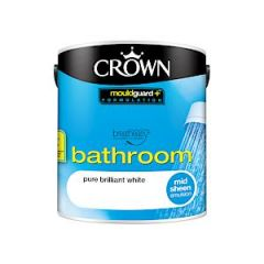 Crown Bathroom Mid Sheen Bril White 2.5L