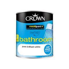 Crown Bathroom Mid Sheen Bril White 1L