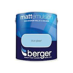 Berger Matt Emulsion Blue Glass 2.5 Ltr