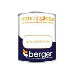 Berger Non Drip Gloss Pure Brilliant White 750Mls