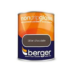 Berger Non Drip Gloss Bitter Chocolate 750Mls