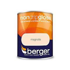 Berger Non Drip Gloss Magnolia 750Mls