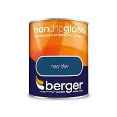Berger Non Drip Gloss Navy Blue 750Mls