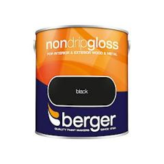 Berger Non Drip Gloss Black 2.5 Ltr