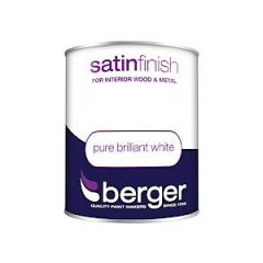 Berger Satin Sheen Pure Brilliant White 750Mls