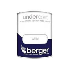 Berger Undercoat White 750Mls