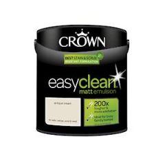 Crown Easyclean Matt Emulsion Antique Cream 2.5Litre