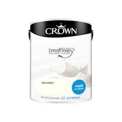 Crown Breatheasy Matt Emulsion - 5 Litre - Sail White