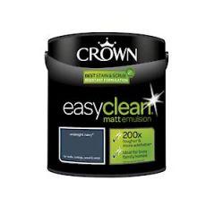 Crown Easyclean Matt Emulsion Mnight Nvy 2.5L