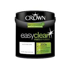 Crown Easyclean Matt Emulsion Pure Brilliant White 2.5L