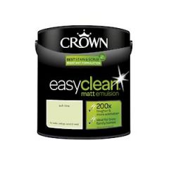 Crown Easyclean Matt Emulsion Soft Lime 2.5Litre