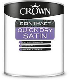 Crown Quick Dry Satin Brilliant White 1L