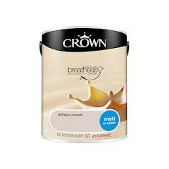 Crown Breatheasy Matt Emulsion - 5 Litre - Antique Cream