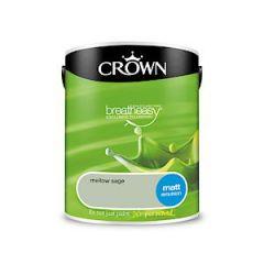Crown Breatheasy Silk Emulsion - 5 Litre - Mellow Sage