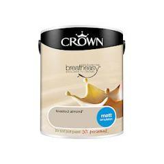 Crown Breatheasy Matt Emulsion - 5 Litre - Toasted Almond