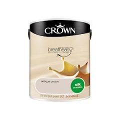 Crown Breatheasy Silk Emulsion - 5 Litre - Antique Cream