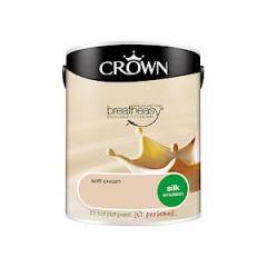 Crown Breatheasy Silk Emulsion - 5 Litre - Soft Cream