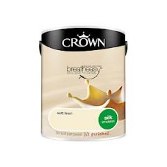 Crown Breatheasy Silk Emulsion - 5 Litre - Soft Linen