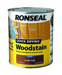 Quick Drying Woodstain Satin Walnut 250Ml