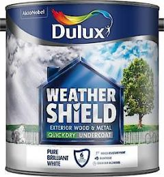DX Weathershield EXT UNDERCOAT Pure Brilliant White  750ML