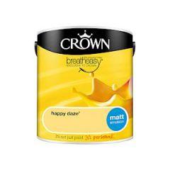 Crown Breatheasy Matt Emulsion - Happy Daze - 2.5Litre